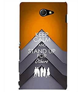PRINTSHOPPII QUOTES Back Case Cover for Sony Xperia M2 Dual D2302::Sony Xperia M2
