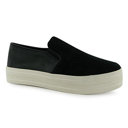 Steve Madden Buhba Fashion, da donna nero casual scarpe da ginnastica, Black, (UK5)
