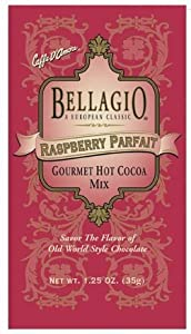 Bellagio Hot Cocoa, Raspberry Parfait, 1.25 oz (Pack of 25)