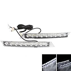 See Rosequartz A6-9 003A 18 LED Low Power Car Daytime Running Light Long Bright (Pair) Details