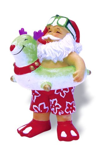 Hawaiian Christmas Ornament Beach Bound Santa