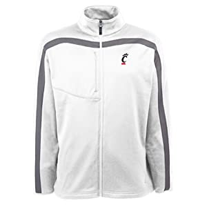Cincinnati Bearcats Jacket - NCAA Antigua Mens Viper Performance Jacket White by Antigua