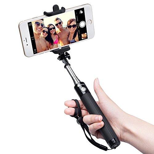 Bastone-Selfie-Bluetooth-TaoTronics-Selfie-Stick-di-Alta-Qualit-con-Asta-Estendibile-fino-a-80cm-Controllo-Wireless-Materiale-Inossidabile-20-ore-di-Autonomia-Compatibile-con-Smartphone-di-sistema-iOS
