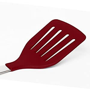 Schefs Premium Silicone Spatula Turner - includes Stainless Steel Handle and Comfort Grip
