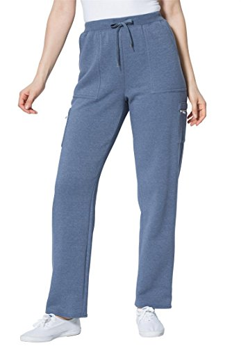 Womens Plus Size Fleece Cargo Pants