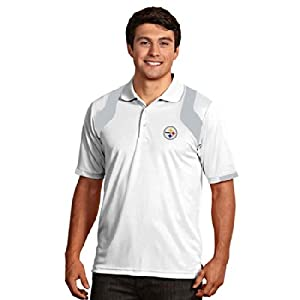 Pittsburgh Steelers Fusion Polo (White) by Antigua