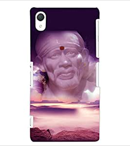 ColourCraft Lord Sai Baba Design Back Case Cover for SONY XPERIA Z2