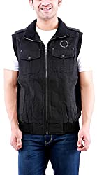 Time Option Men's Cotton Jacket (5010_Black_40)