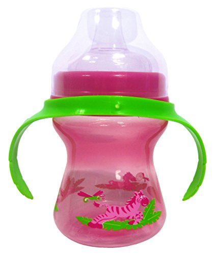 Evenflo Zoo Friends Trainer Cup, Pink, 7 oz, 6 m+