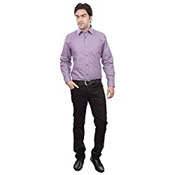 Sangam Apparels Burgundy Formal Shirt For Men's