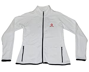 Ohio State Buckeyes Gear for Sports Women White Full Zip Fleece Sweatshirt (M) by Gear for Sports