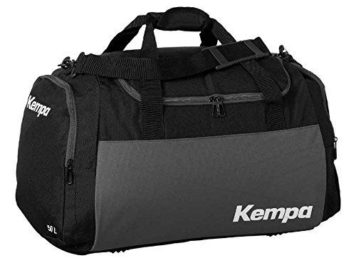 Kempa Borsa sportiva Large Nero/Antracite Blu 65x 31x 37,5cm, 75L (con stampa su richiesta nome)