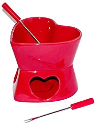 Valentine Mini Heart Shaped Fondue Set