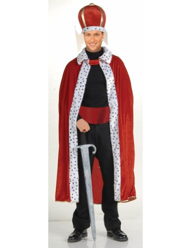 King Robe And Crown Halloween Costume - Most Adults