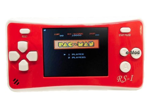 "E-Mod, 2.5"" Lcd Portable Game Console W/ Speaker - Red + White (3 X Aaa) Bulit-In 152 Games -Rs-1"