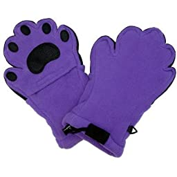 BearHands YF1000DPUR Youth Large Fleece Mittens - Dark Purple