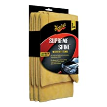 Meguiar&#039;s Supreme Shine Microfiber Cloths (Pack of 3)