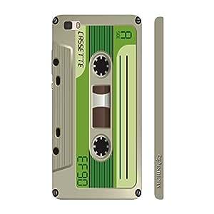 Enthopia Designer Hardshell Case Retro Cassette 8 Back Cover for Huawei P8 Lite