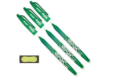 pilot-tintenroller-frixion-ball-radierbar-3er-pack-radierer-grun