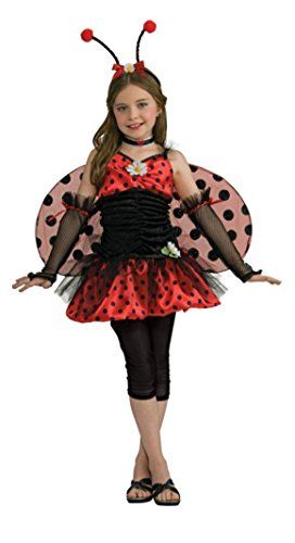 Girls Ladybug Tween Kids Child Fancy Dress Party Halloween Costume