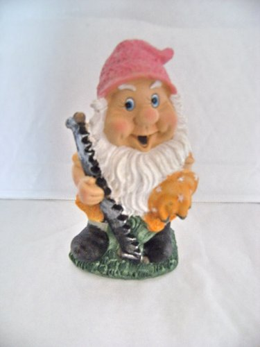 Garden Gnome with a Saw