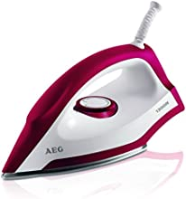 AEG Trockenbügeleisen Perfect LB 1300 / INOX Edelstahl-Bügelsohle / 1300 Watt  / schnell aufheizend | Rot