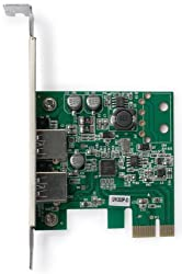 Plugable PCI Express to SuperSpeed USB 3.0 2-Port Expansion Card for Desktops (Latest Renesas µPD720202 xHCI 1.0 chipset)