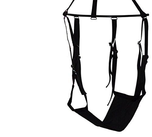 Die Liebesschaukel für geilen Freestyle-Sex! / Unglaublich, was man damit alles machen kann. Stellungen, die im Bett »technisch« unmöglich sind, werden mit der Schaukel zum neuen Lust-Vergnügen. / Liebesschaukel / Liebes Schaukel / Für heiße Schaukelspiele! Sexstellungen die im Bett »technisch« nicht möglich sind, werden mit der Liebesschaukel zum neuen Lustvergügen. Matte 88 x 60 cm groß, 100% Polyester. Gurte, Hand- und Fußschlaufen aus reißfestem Nylon, längenverstellbar. Ohne Montage-Zubehör. Schwarz. Belastbar bis 120 kg.