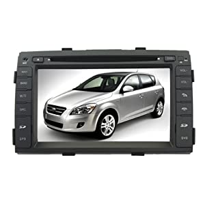 """Koolertron For 2009 2010 2011 Kia Sorento / In-Dash DVD GPS Navigation Radio Multimedia System AV Receiver and 7"""" HD Touchscreen and SWC iPod PIP RDS Virtual-CDC (Free Map,Factory Fit)"""