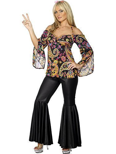 1970s Ladies Hippy Costume with Paisley Top, Flares. Sizes 8 to 26
