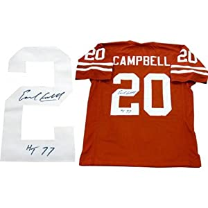 Earl Campbell Signed Jersey - HT 77 - Autographed College Jerseys by Sports Memorabilia