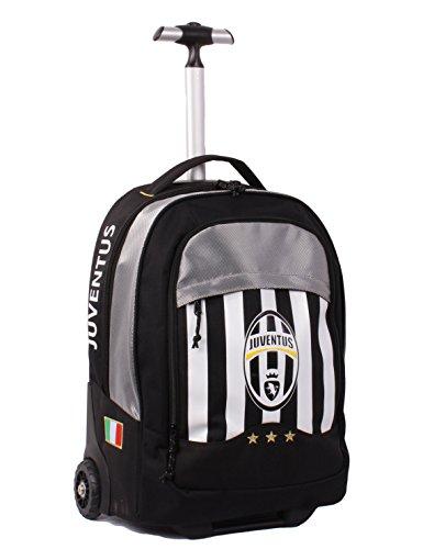 Seven Juventus 2B6001602-F75 Zaino con Spallacci a Scomparsa, 30 litri, Poliestere, Bianco/Nero
