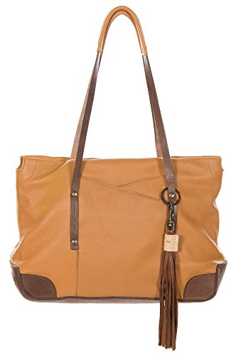 Will Florence Deerskin Leather Tote Bag, Tan/Brown, Size 1 Size