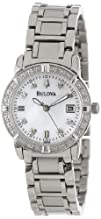 Bulova Womens 96R105 Diamond Accented Calendar Watch