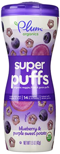 Plum Organics Super Puffs Purples Blueberry and Purple Sweet Potato, 1.5 oz - 1