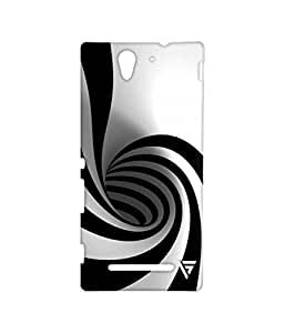 Vogueshell Black and White Pattern Printed Symmetry PRO Series Hard Back Case for Sony Xperia C3
