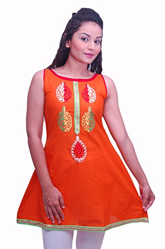 Divina Fashions Women's Cotton Solid Kurti (An002) (multicolor)