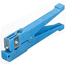 "Ideal Industries Blue Coaxial Cable Stripper, 1/4"" to 9/16"" Cutting Diameter"