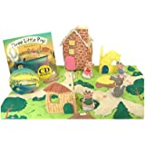Three Little Pigs Playset with Mataching Pop up Book and Read-along Cd