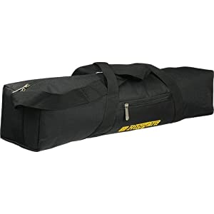 """Ruggard Padded Tripod Case (35"""", Black with Yellow Embroidery)"""