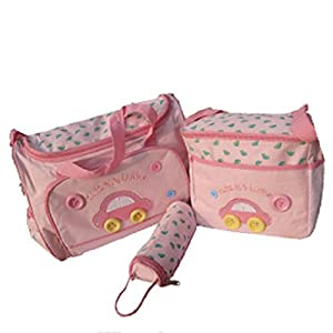 WenMei Women's Handbag Bottle Holder 4Pcs Baby Diaper Nappy Bag Mummy Set Changing Mat from WenMei