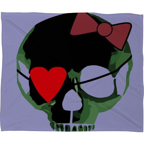 Skull Throw Blanket back-1077950