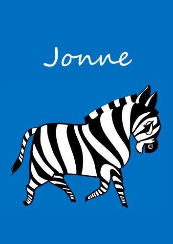 Jonne: individualisiertes Malbuch / Notizbuch / Tagebuch - Zebra - A4 - blanko