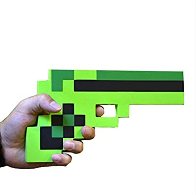 "Pixelated Diamond Foam Gun Toy 10"" by Weitengs"