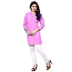 Fashion Bucket Light Pink colored cotton kurti.