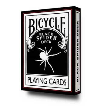 "Bicycle ""Black Spider Deck"" Standard Deck Plus 3 Gaff Cards"