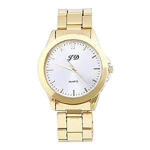 New Luxury Men Gold Classic Analog Quartz Stainless Steel Wrist Watch