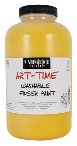 Sargent Art 22-9502 32-Ounce Art Time Washable Finger Paint, Yellow
