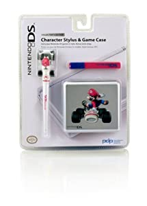 nintendo ds lite character stylus and game case mario kart video games. Black Bedroom Furniture Sets. Home Design Ideas