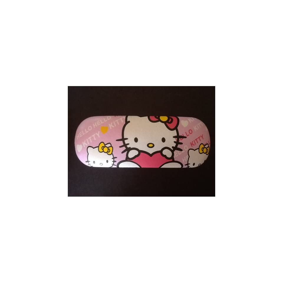 Pink Hello Kitty Eyeglasses Case .